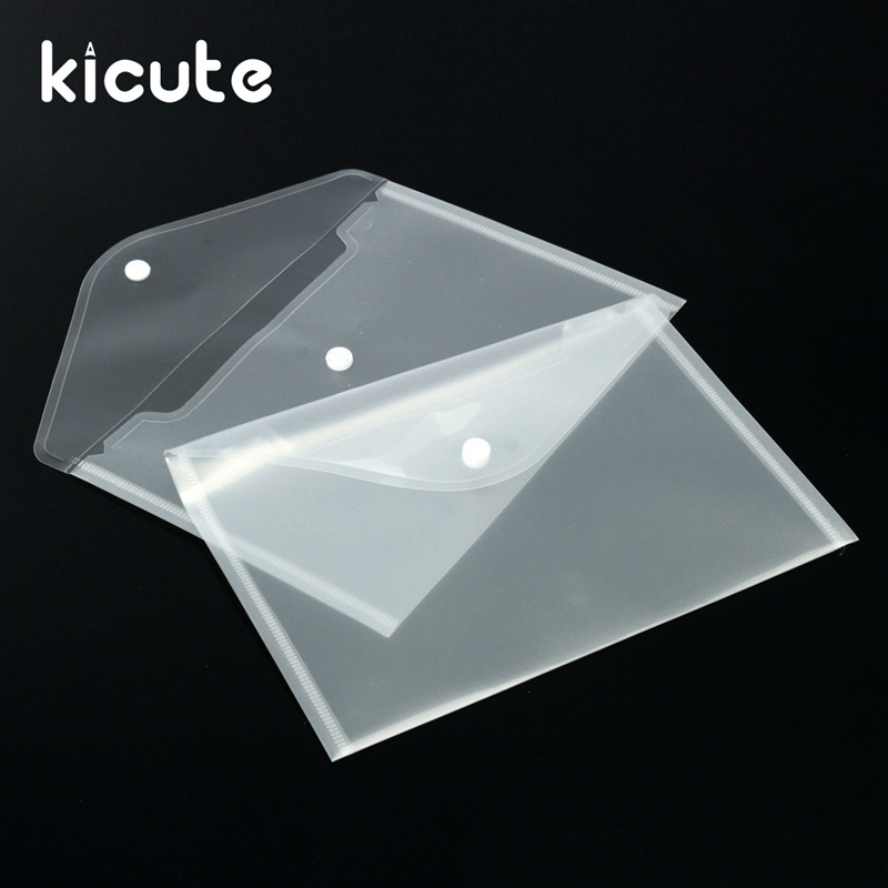 Kicute 12pcs Transparent Plastic A5 Folders File Bag Document Hold Bags Folders Filing Paper Storage Office School Supplies aos flat file storage folders stores flat items up to 12 x18 pack of 10