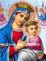 Free Shipping Religion Style Wall Haning Virgin Mary Mother Of God Decoration Picture