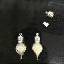 50pieces 27x11mm water drop tear heart glass vial pendant mini wishing glass bottle jewelry necklace pendant findings