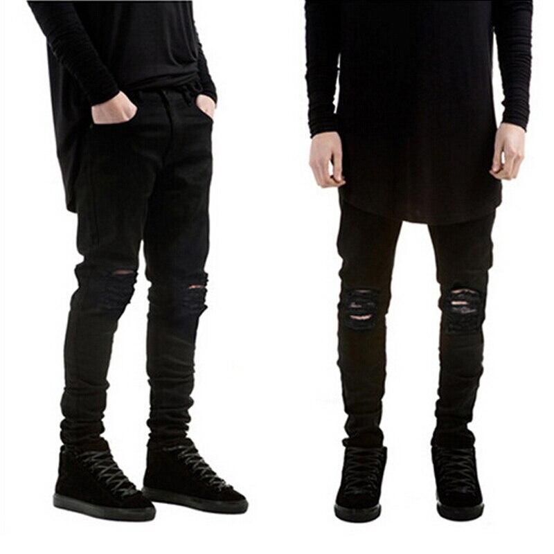 2017 Fashion spring jeans hip-hop Men Rider Biker Jeans masculina Casual Denim Mens Slim Jeans pants Brand skinny jeans homme