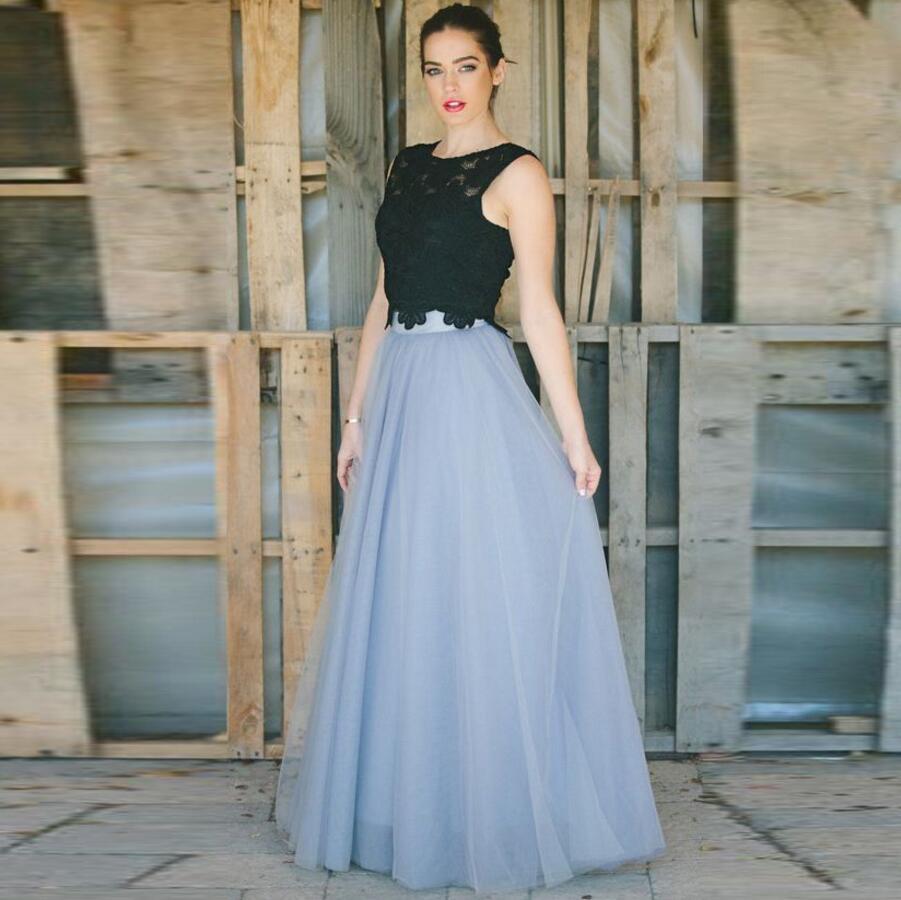 Nouvelle haute qualité Tulle lisse Maxi jupe longueur de plancher classique Simple longue jupe personnalisée adultes taille jupes