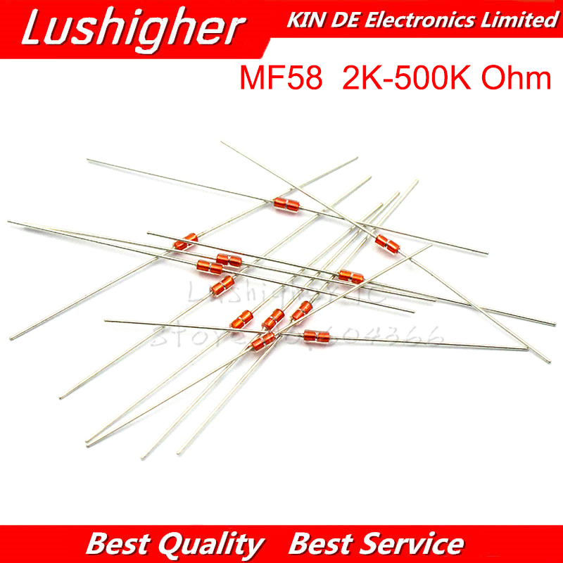 20pcs NTC Thermal Resistor NTC MF58 3950 5% B 2K 5K 10K 20K 50K 100K 200K 500K Ohm Thermistor