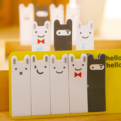 Skillful Knitting And Elegant Design Steady Cute Black White Joran Rabbit Mini Bookmark Notes Message Post Memo Pad Material Escolar Kawaii Kawaii Stationery 1pcs To Be Renowned Both At Home And Abroad For Exquisite Workmanship Office & School Supplies