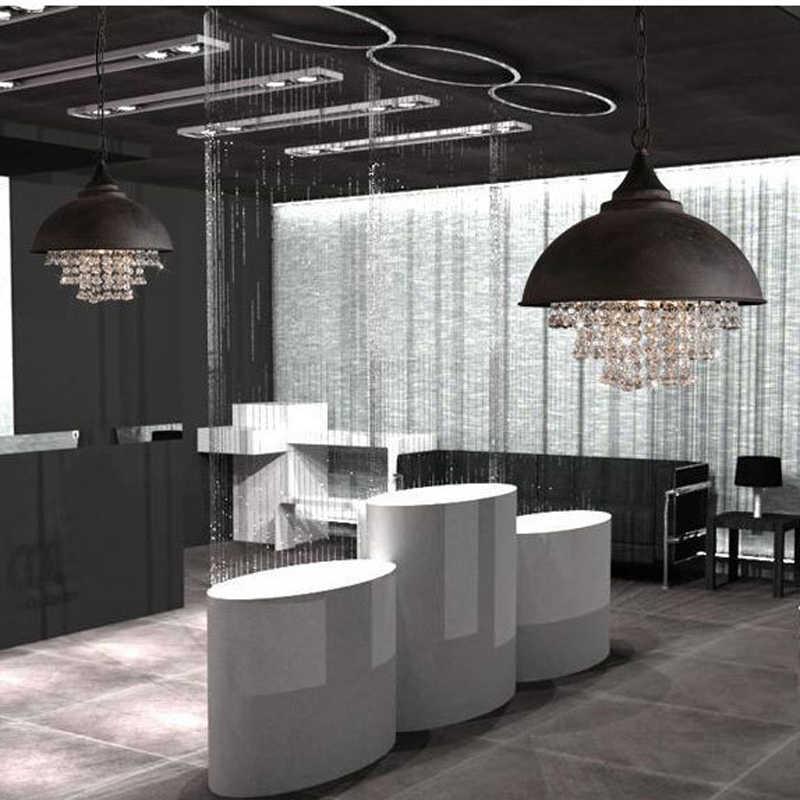 Хрустальные полушаровые лампы Ретро Лофт свет бар ресторан гостиная кафе-бар клуб зал столовая Прихожая Зал люстра