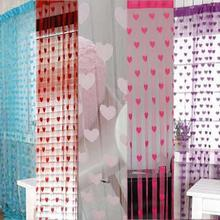 1x2m Fashion Heart Tassel String Door Curtain Window Room Divider Valance Hot цена и фото