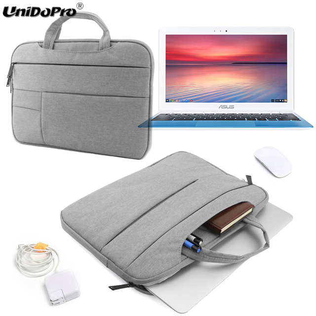 UNIDOPRO Multifunctional Laptop Sleeve Handbag for ASUS Chromebook Flip  C302CA 12 5 inch Matte Case Notebook Protective Bag-in Laptop Bags & Cases