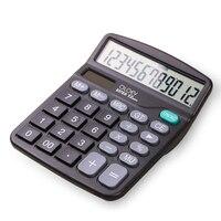 12 Digit 12 Digit Large Screen Calculator Solar Battery Light Powered Office Home Portable Calculator Fashion