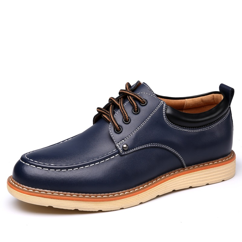 CHANGYUGE Spring Autumn Man Casual Shoes Lace Up Style Pu Leather Fashion Trend Flats Ru ...