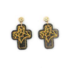 Halloween Jewelry Acrylic Cross Stud Earrings For Women