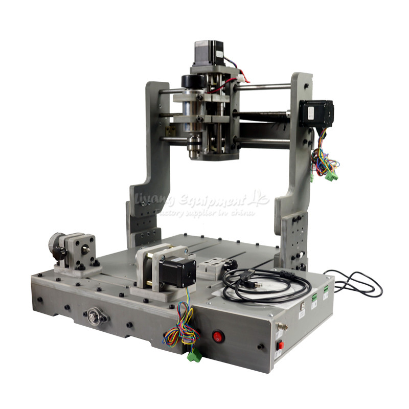 DIY Mini CNC 3040 3 Axis 4 Axis USB Port 300W Wood Milling Router Machine diy mini cnc router ly 3040 full cast iron engraving machine for metal 3 4 axis cutting drilling 1 5 2 2 3 5kw