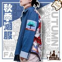 Anime Boku no Hero Academia Todoroki Shoto Fashion Suit Jeans Jacket Cosplay Costume Full Set For Halloween FreeShipping New2019