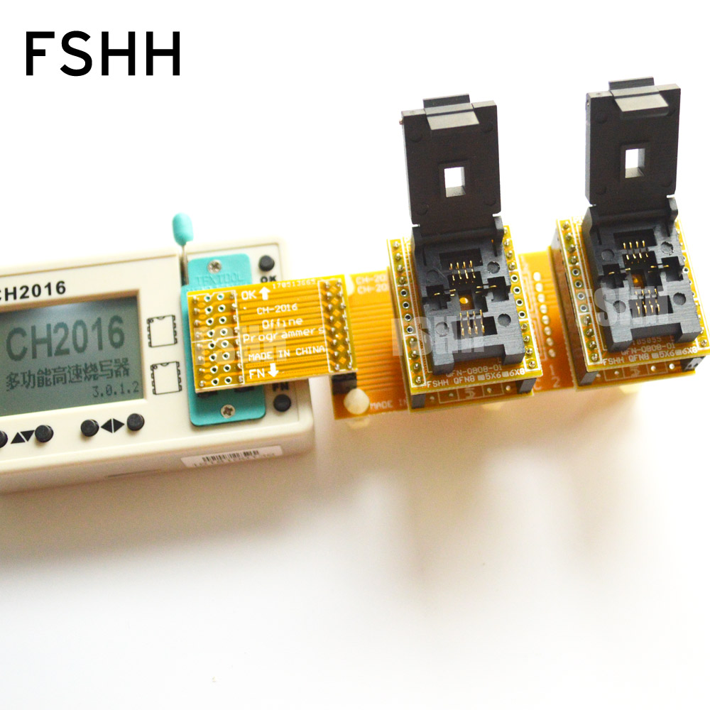 Image 3 - Offline programmers CH2016  SPI FLASH programmer+6X8mm QFN8+QFN8 test socket  Production 1 drag 2 programmer-in Industrial Computer & Accessories from Computer & Office