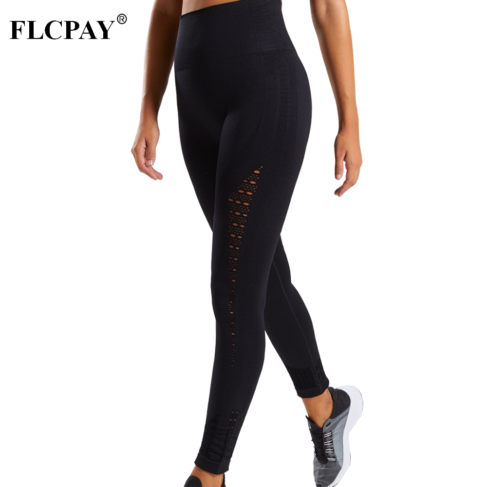Sexy Yoga Fitness Sports Stretch Leggings Gym Women Tight Pants High Waist Gym Shark Seamless Training Jogging Track Pant leggings