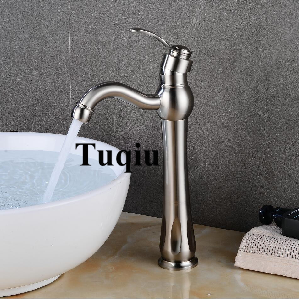 Total brass Basin Faucet Five colos Tall wash faucet hot and cold basin crane single lever bathroom basin sink mixer tap fashion high quality good plating total brass material hot and cold single lever bathroom basin mixer sink faucet