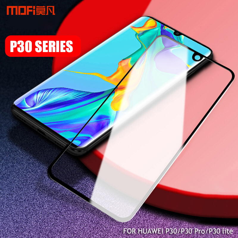 For huawei P30 Pro Tempered Glass MOFi huawei P30 lite Tempered film glass P30pro Full Cover screen protector glass P30
