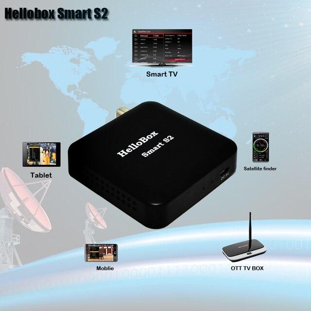 HelloboxスマートS2受信機サテライトファインダーdvbplayアプリのサポート携帯電話/スマートテレビ/tvボックス/pc/タブレット再生