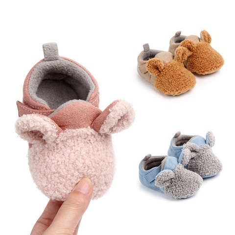 Autumn Winter Baby Cotton Shoes Baby Girls Boys Child Warm Non-slip Home Shoes Toddler Shoes First Walkers Shoes 0-18M Karachi