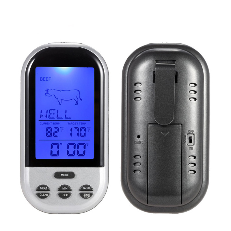 MOSEKO Digital Wireless Food Thermometer for BBQ Meat and other Grilled and Cooked Food with Timer and Temperature Alarm