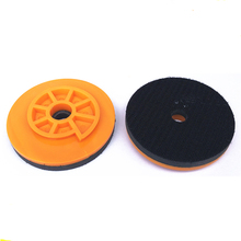 4 inch 100mm 5 inch 125mm 6 inch 150mm Snail Lock holder Adaptor Backer Pad Backing plate Disc Plastic Self Gripping Hook цена в Москве и Питере