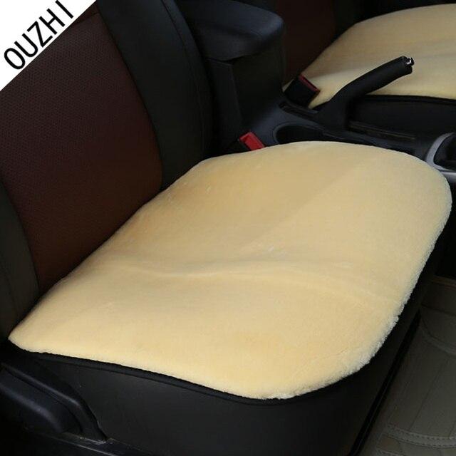OUZHI for Lada granta lada vesta kalina solid black beige brown red soft breathe freely single plush fur car seat covers