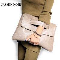 2016 Vintage Retro Women Solid Big Clutch Bag Lady High Quality PU Leather Messenger Bag Female