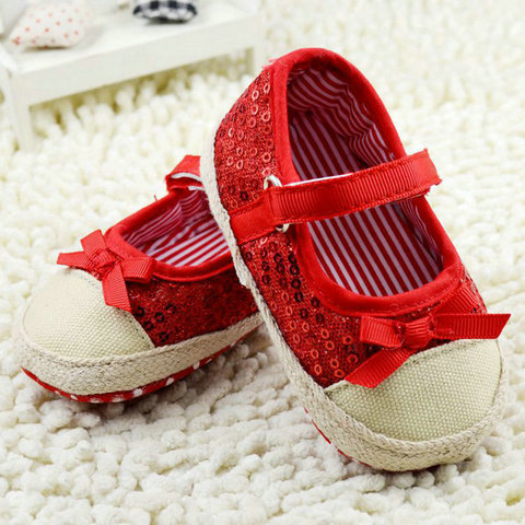 infant toddler shoes baby girls shoes bebe shoes first walkers crib  shoes kids shoes breathable Sequin Lahore