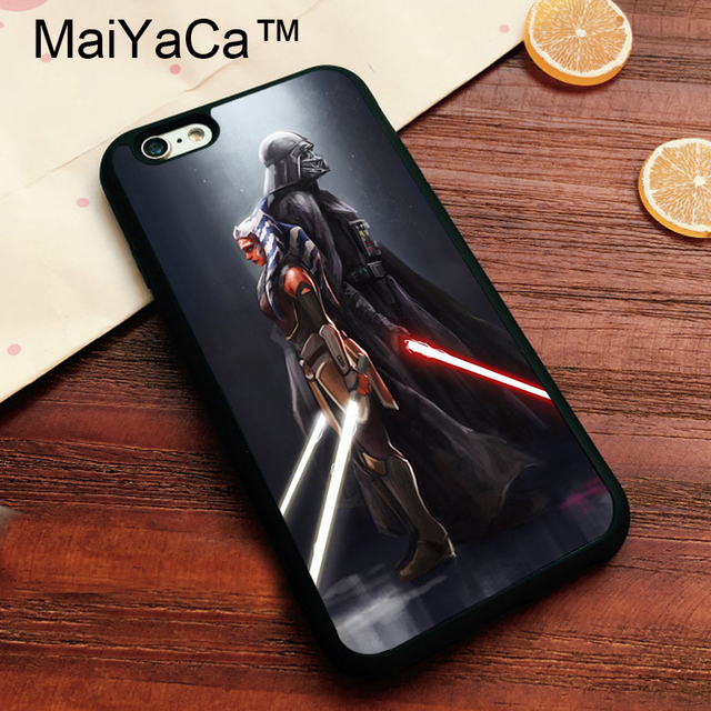 newest 0ac06 56c75 US $4.34 5% OFF|MaiYaCa Ahsoka Tano Darth Vader Star Wars Brand Cover for  Apple iPhone 7 Case Soft TPU Phone Case for Apple iPhone 7 Back Cover-in ...