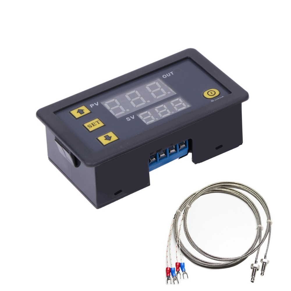 High temperature K-type thermocouple digital thermostat high precision temperature switch microcomputer controller цены