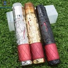 New arrival Suicide queen Mechanical Mod with QP KALI RDA Fit 18650 20700 Mech MOD 26mm diameter Brass material vape pen