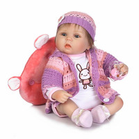 Stylish Vivid 16 Silicone Reborn Dolls Babies Hug Real Like Newborn Bebe Toddler Realistic Reborns Boneca