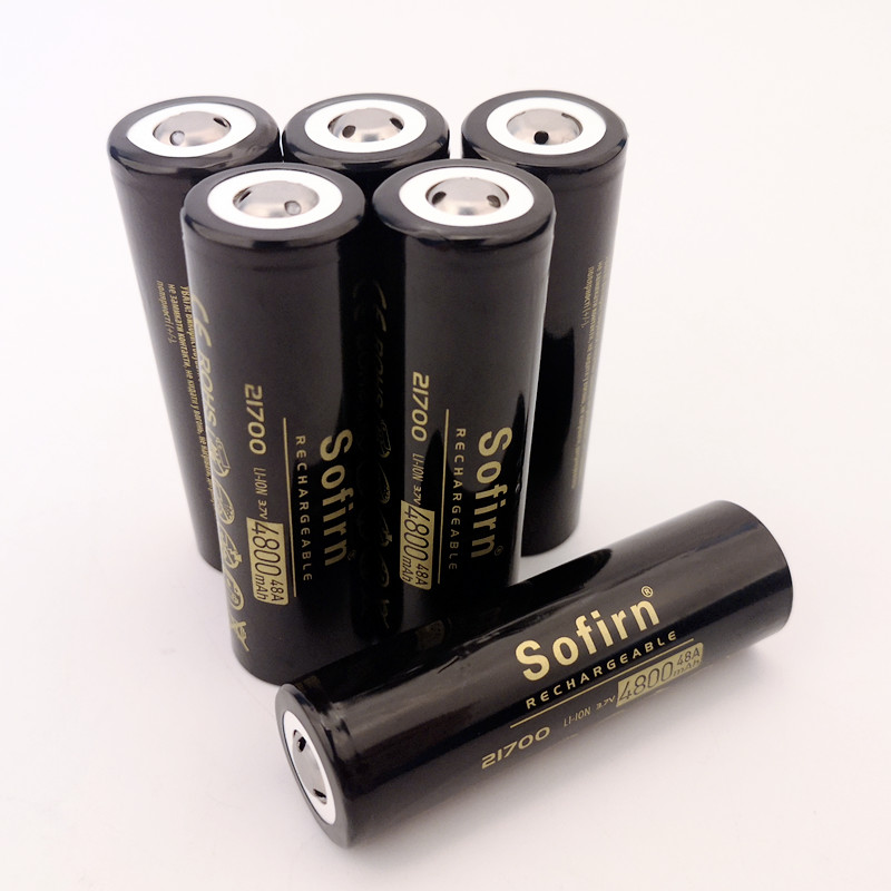 Sofirn 21700 Rechargeable Lithium 4800mAh 3 7V Power Battery 48A 10C High Discharge High Drain Li ion Battery HD Cell in Rechargeable Batteries from Consumer Electronics