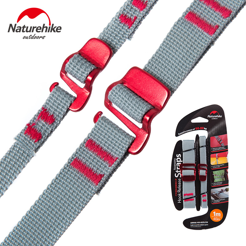 NatureHike Outdoor Tool Baggage Belt Hiking Luggage Belt UltraLight Multipurpose High Strength Fixed Strap Camping Hiking Travel