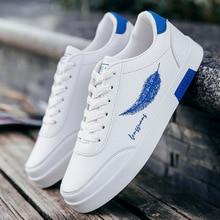 Male Shoes Adult Men Vulcanize Shoes Lace Up Men Sneakers Casual Men Shoes Comfort Walking Shoes White Sneakers Fashion Footwear