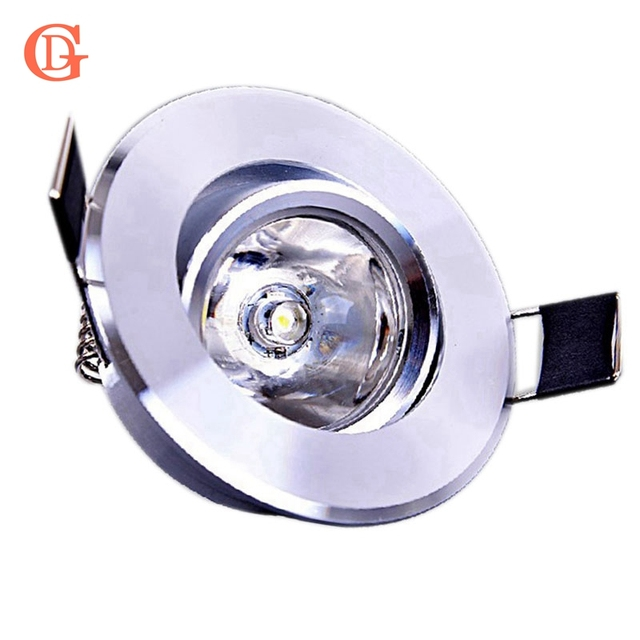 1W LED Recessed Downlight 110V 220V Dimmable LED Ceiling Fixture ...
