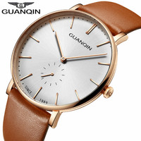 Relogio Masculino New GUANQIN Famous Brand Luxury Simple Design Men S Fashion Watches Men Casual Leather