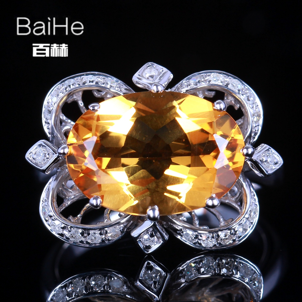 BAIHE Sterling Silver 925 4.74ct Certified Yellow Flawless Oval Genuine Citrine Wedding Women Trendy Fine Jewelry unique Ring BAIHE Sterling Silver 925 4.74ct Certified Yellow Flawless Oval Genuine Citrine Wedding Women Trendy Fine Jewelry unique Ring