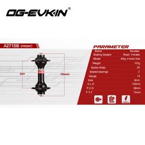 Image 2 - OG EVKIN מכירה לוהטת Novatec A271SB F372SB כביש אופני רכזת קדמי ואחורי שחור 20/24 חורים אופניים חלקי רכזות 9s 10S 11S