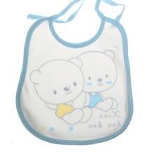 Lovely Bears Printed Waterproof Cotton Bib