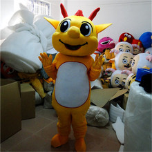 Professional New Cute Cartoon Dragon Mascot Costume Dinosaur Fancy Dress Adult Size for Halloween Carnival Birthday Party Event