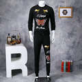new hot sale men fashion  leisure suit for men casual slim mens tracksuit set CG051