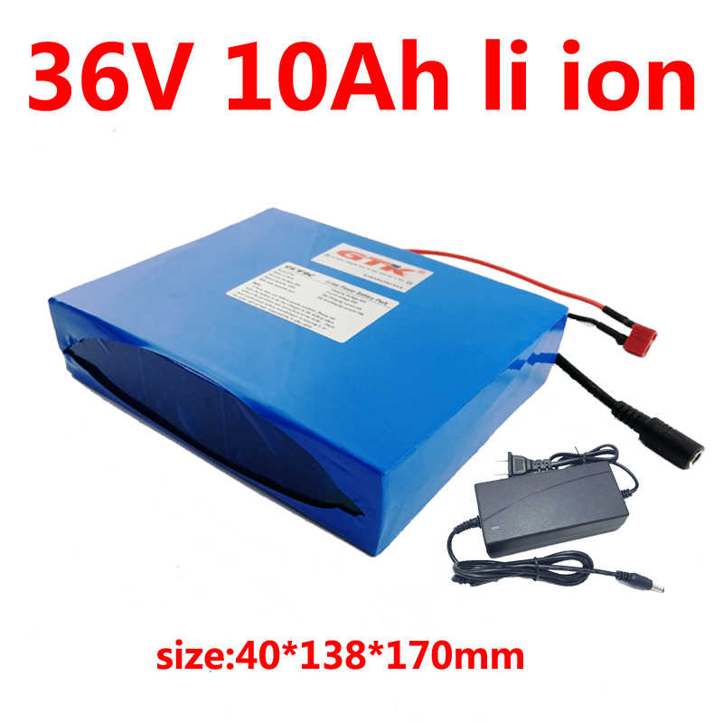 Lithium LiFePO4 36V 10Ah Battery Pack 350Watt Ebike Scooter With BMS 3A Charger