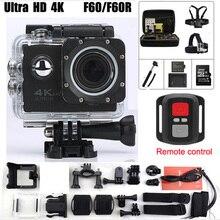 Acción Cámara F60 F60R Allwinner V3 Ultra 4 K 1080 p Wifi 2.0 LED 170 Grados grabadora marina impermeable de buceo cámara del deporte de