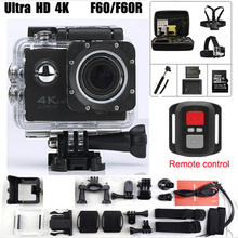 Action video Camera F60 F60R Allwinner V3 Ultra 4K 1080p Wifi 2.0 LED 170 Degree recorder marine diving waterproof Sport camera