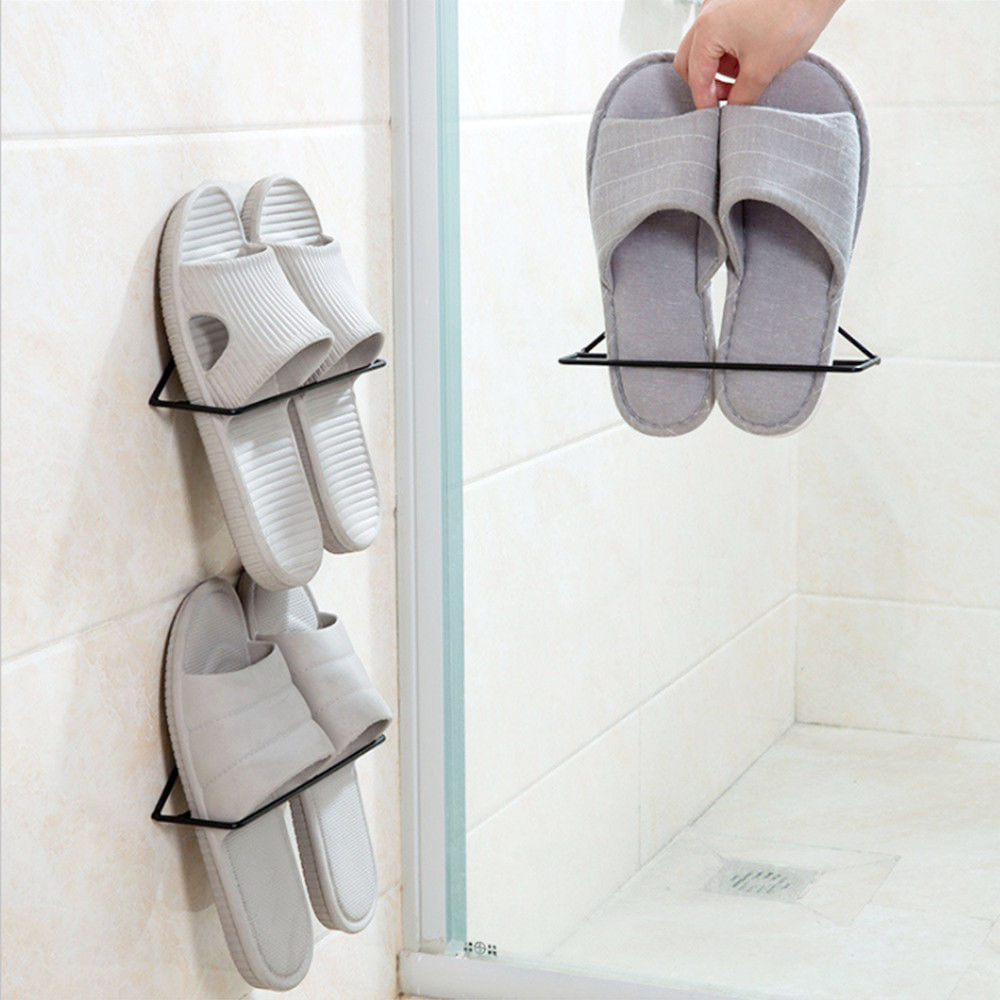 Metal Triangle Shape Triangle Shoe Rack Triangle Shoes Holder Shoes Organizers Space Save Closet Storage Shoes Hanger Slipper