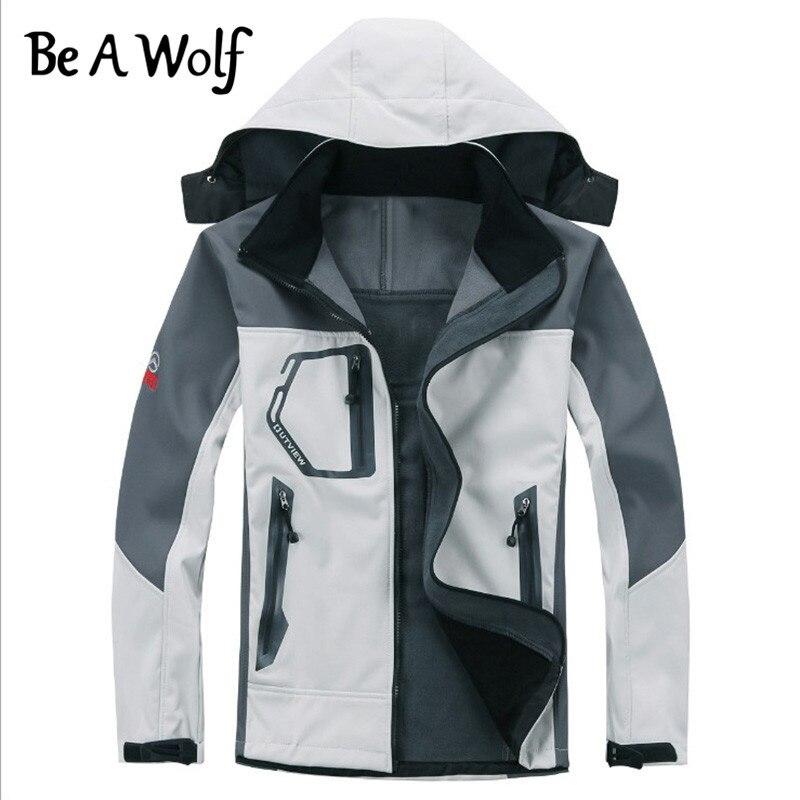 Werden EIN Wolf Outdoor Wandern Softshell-jacke Männer Winddicht Wasserdicht Männlichen Wandern Camping Beheizt Fleece Jacken Weibliche Kleidung 201