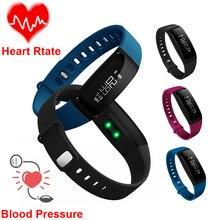 V07 смарт-браслет Приборы для измерения артериального давления браслет сердечного ритма Фитнес трекер Шагомер Bluetooth 4.0 Смарт часы для IOS Android