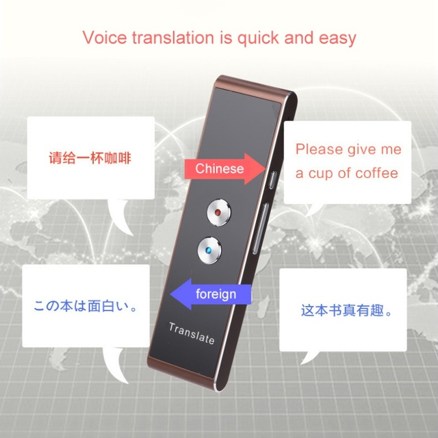 Portable T8 Smart Voice Speech Translator Two-Way Real Time 30 Multi-Language Translation For Learning Travelling Business Meet 2