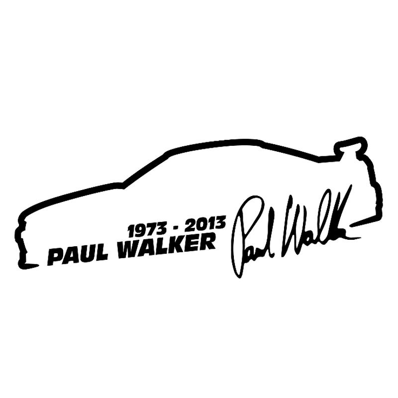 13cm*5cm Paul Walker Fast And Furious Fashion Car Styling Car Sticker Vinyl S4-0466