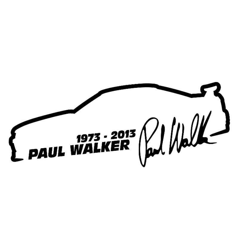 13см*5см Пол Уокер быстрый и яростный мода автомобилей стайлинг автомобиля винила стикера С4-0466