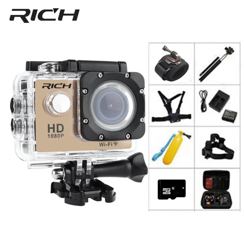 RICH Action Camera Ultra HD 130D 2.0 Screen Go Wifi underwater cameras Waterproo
